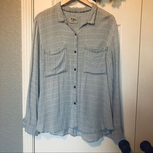 Holding Horses by Anthro Open Back Button Shirt